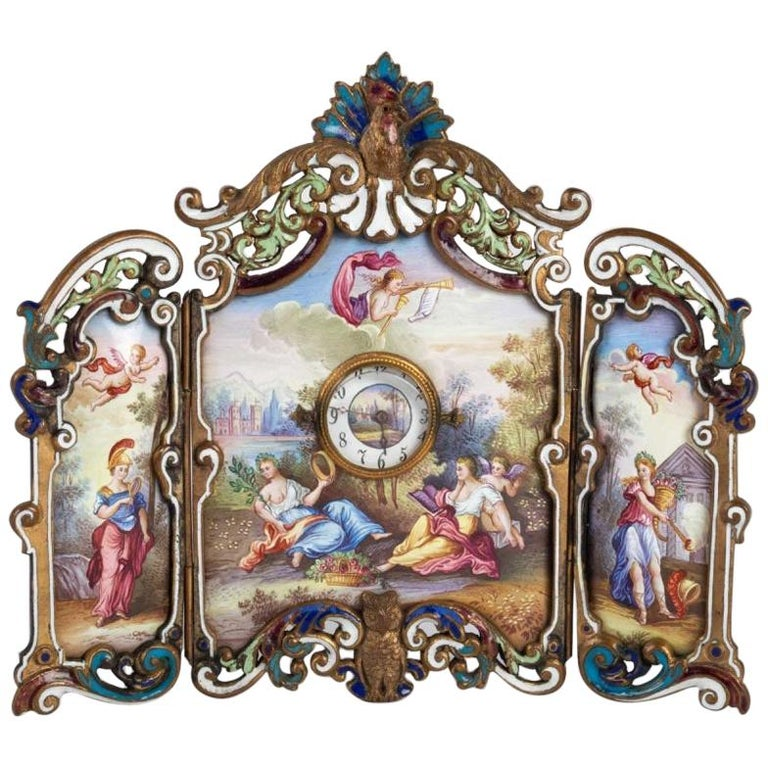 Small Miniature Screen in Gilded Bronze in the Louis XV For Sale