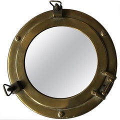 Small Mirror in Brass Frame by Gucci, Italy, 1960s