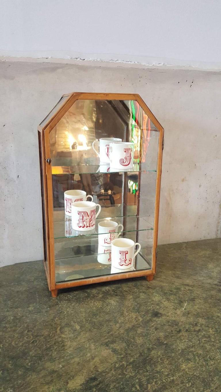 Small Mirrored Table Display from the 19th Century 15