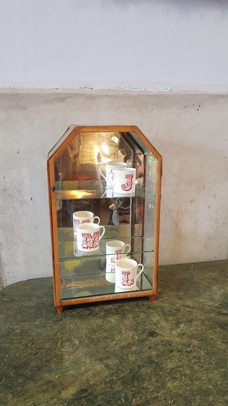 Small Mirrored Table Display from the 19th Century 16