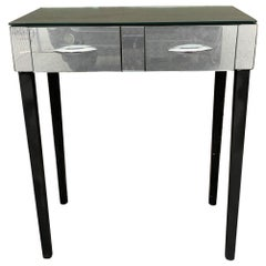 Small Mirrored Vanity Console Table