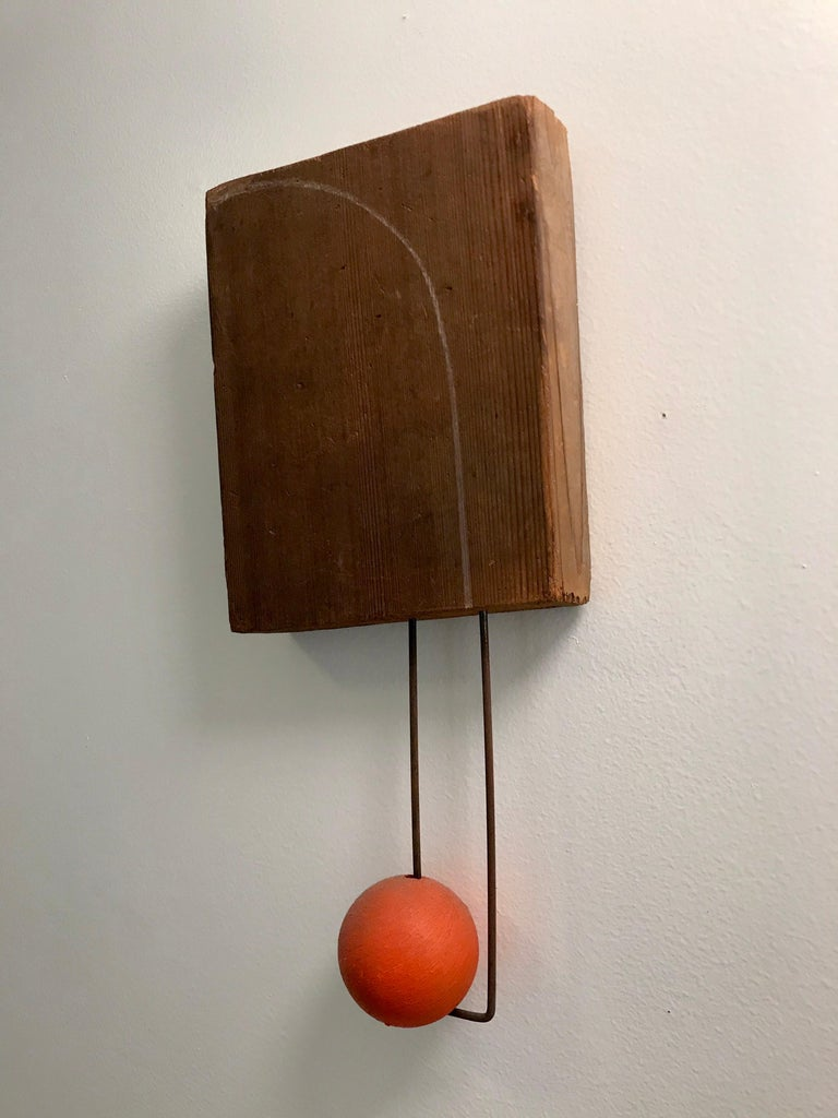 A nice piece of esoteric art assembled wood and wire with graphite arc line.