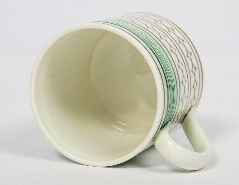 Folk Art Small Mochaware Mug England, circa 1820 For Sale