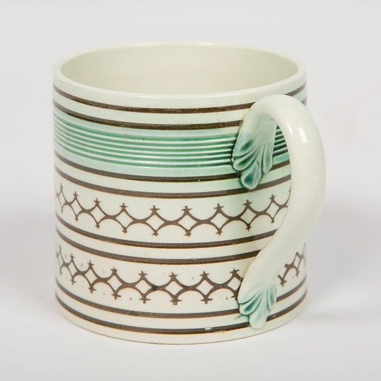 Small Mochaware Mug England, circa 1820 For Sale 1