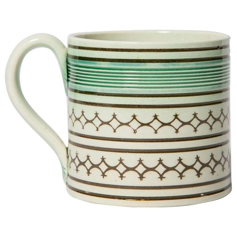 Small Mochaware Mug England, circa 1820 For Sale