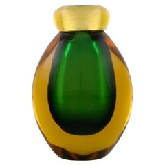 Small Murano Vase in Mouth Blown Art Glass, Italian Design, 1960s