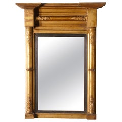 Small Napoleon III French Carved Gilt Wall Mirror