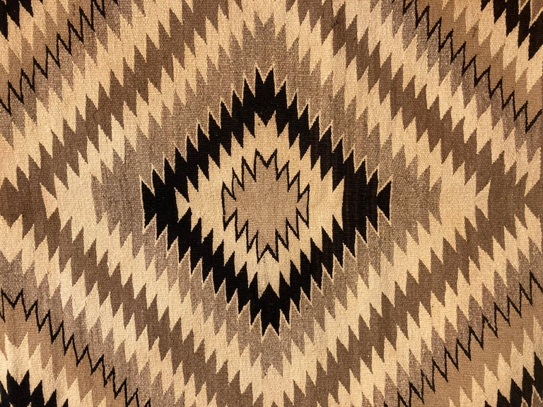 Native American Small Navajo Rug in Earthtone Colors For Sale