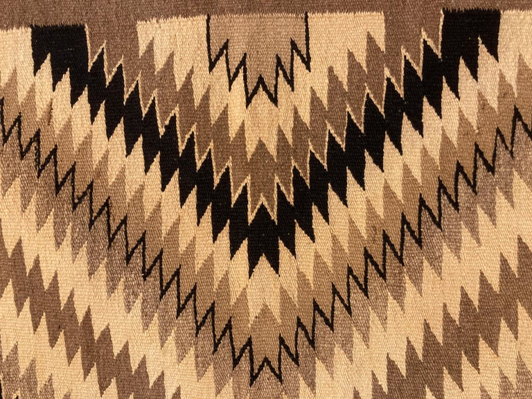 American Small Navajo Rug in Earthtone Colors For Sale
