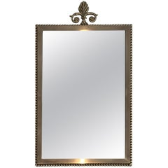 Small Neoclassical Style Brass Mirror, French, circa 1970