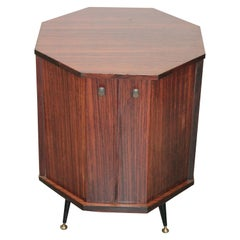 Small Octagonal Bar Cabinet Rosewood Bernini Gianfranco Frattini Attributed