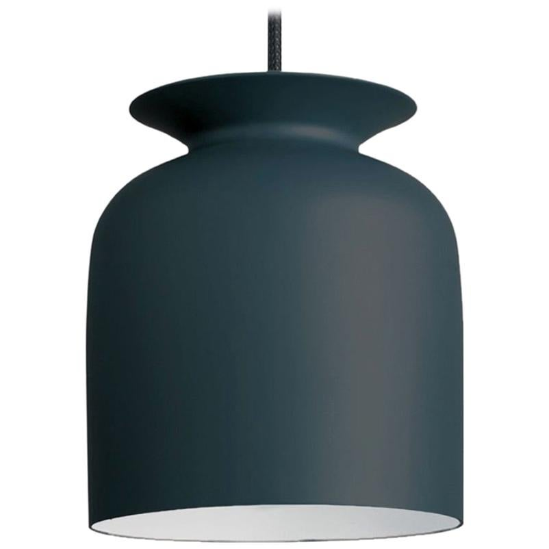 Small Oliver Schick Ronde Pendant in Anthracite Grey for GUBI