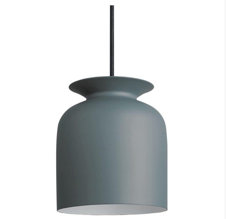 Small Oliver Schick Ronde Pendant in Matte Black for Gubi In New Condition For Sale In Glendale, CA