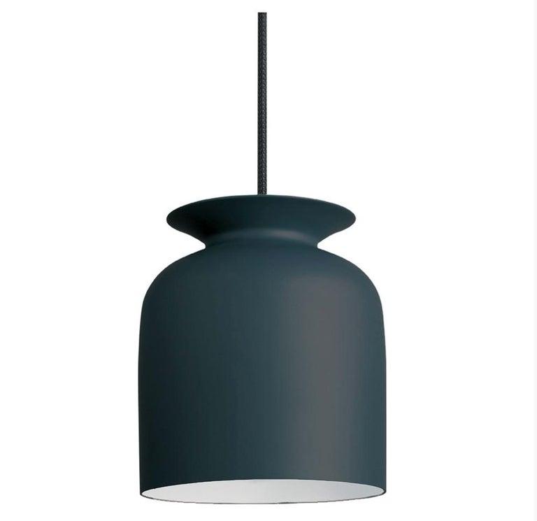 Contemporary Small Oliver Schick Ronde Pendant in Matte Black for Gubi For Sale