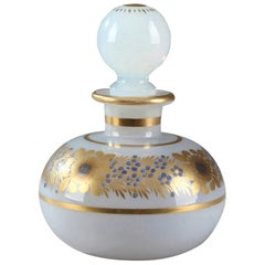 Small Opaline Perfume Bottle With Desvignes Decoration