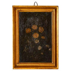 Small Original Oil on Panel Still Life Painted of Yellow Flowers, Signed