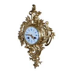 Small Ormolu French Cartel Wall Clock
