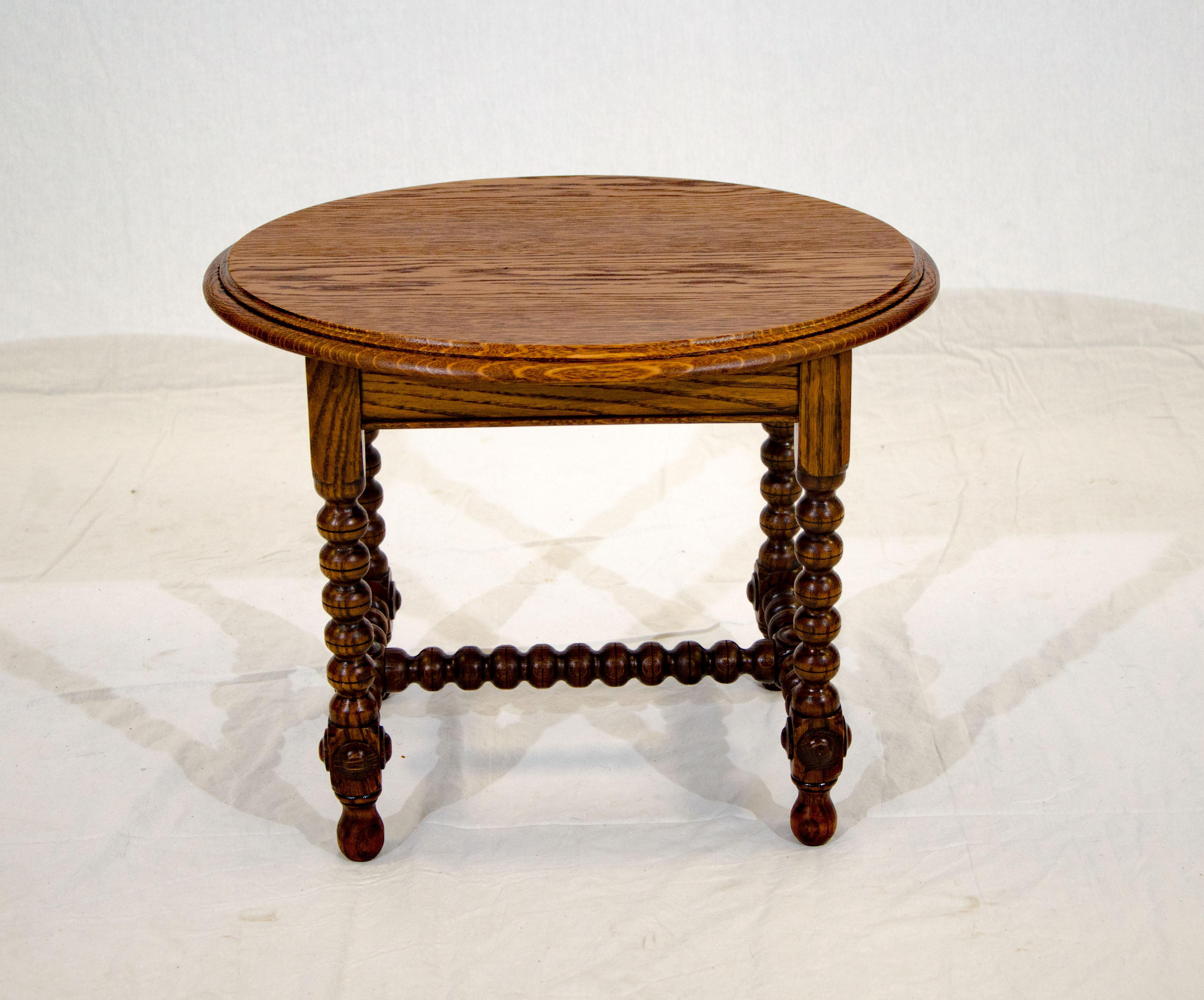Small Oval Antique Oak Occasional Table