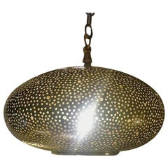 Small Oval Gold Brass Modern Pendant Chandelier
