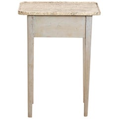 Small Painted Empire Style Table with Faux Marble Top