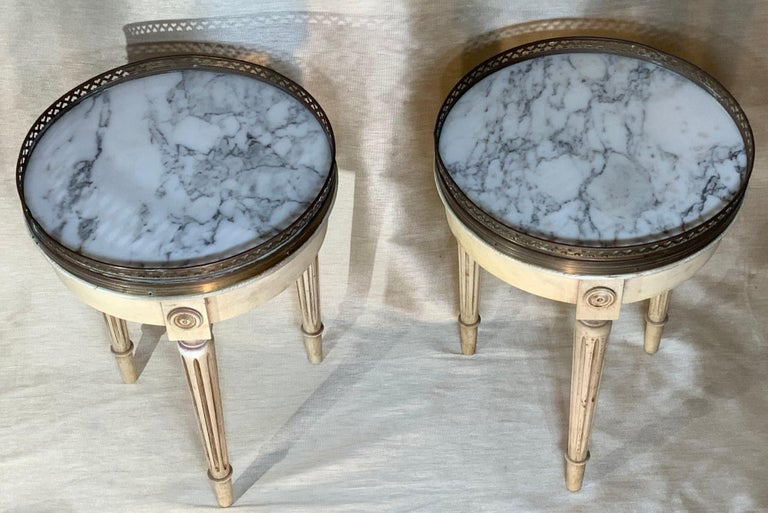American Small Pair of Vintage Bouillotte Style Tables For Sale
