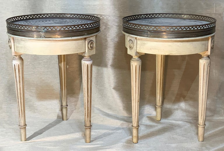 Small Pair of Vintage Bouillotte Style Tables In Good Condition For Sale In Delray Beach, FL
