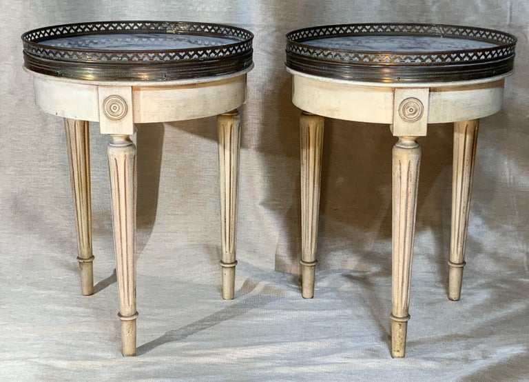 Small Pair of Vintage Bouillotte Style Tables For Sale 1