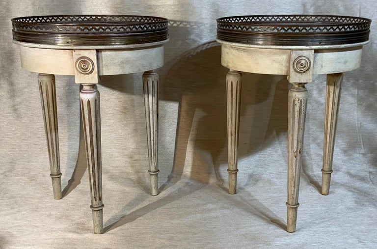 Small Pair of Vintage Bouillotte Style Tables For Sale 3