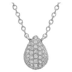 Small Pavé Diamond Pear-Shaped Pendant