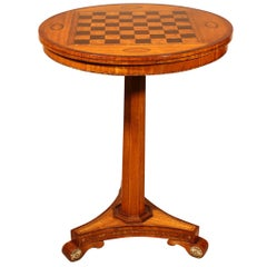 Small Pedestal Table with Chest Board, 19th Century