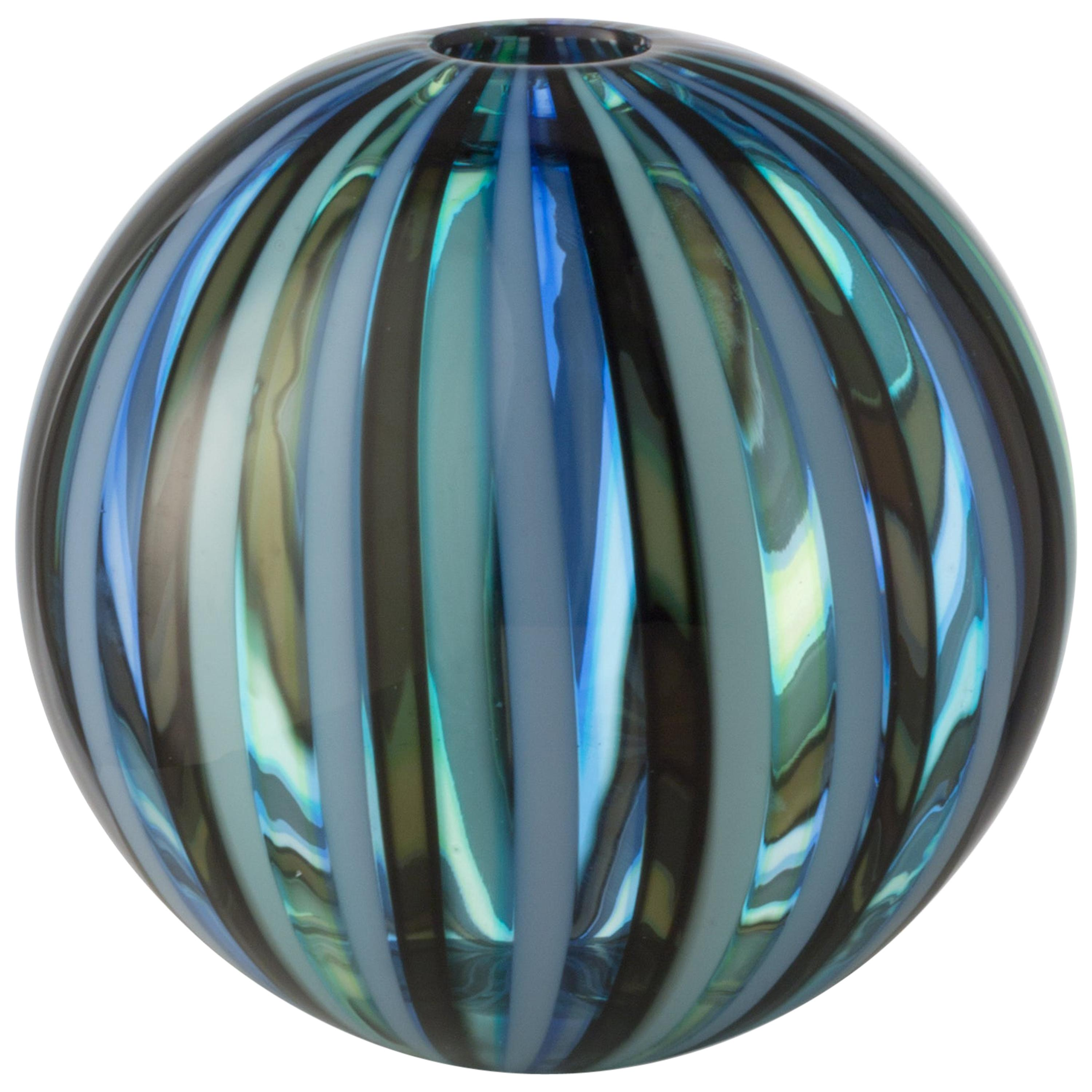 Small Perles 2 Vase in Hand Blown Murano Glass by Salviati