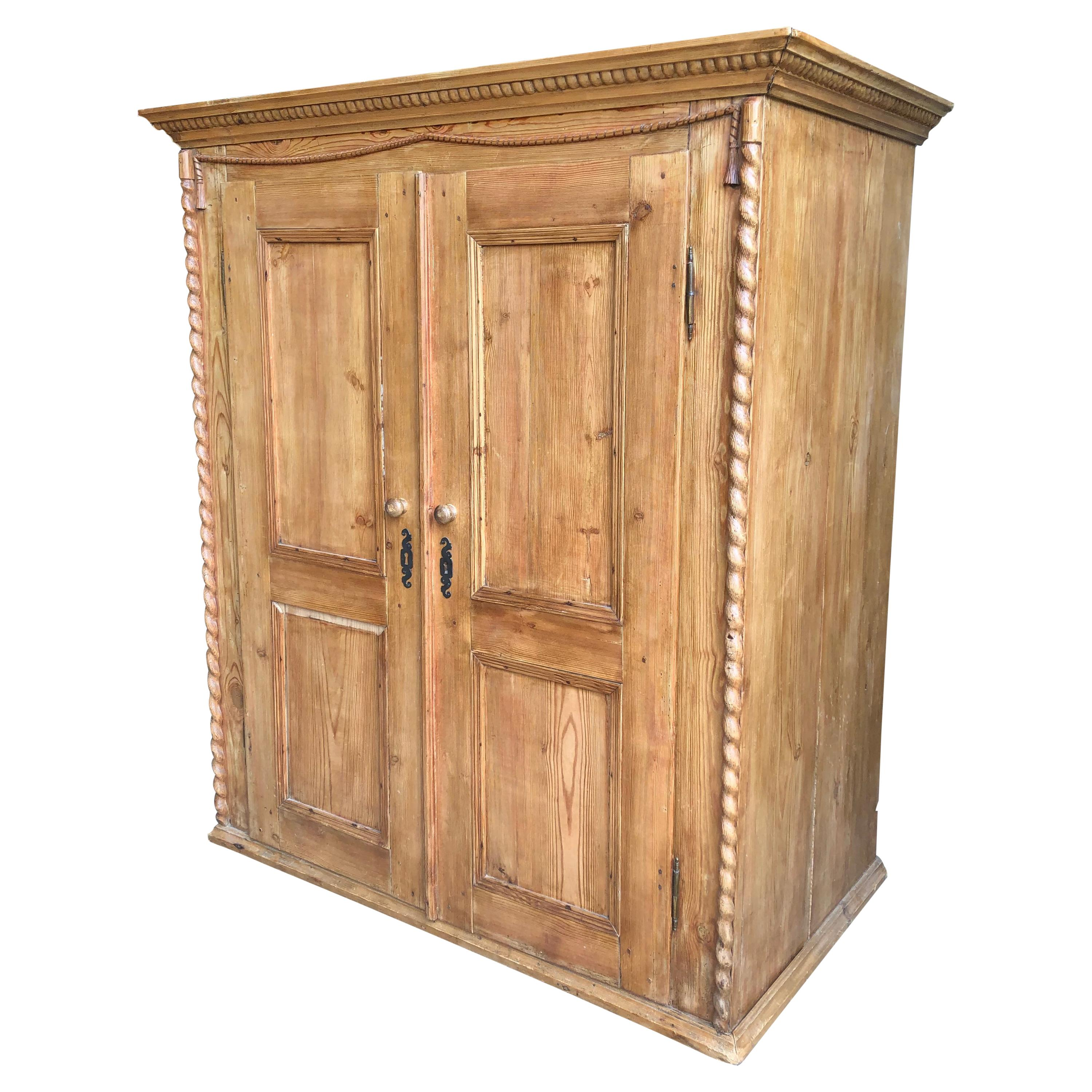 Small Pine Armoire, French, 19th C