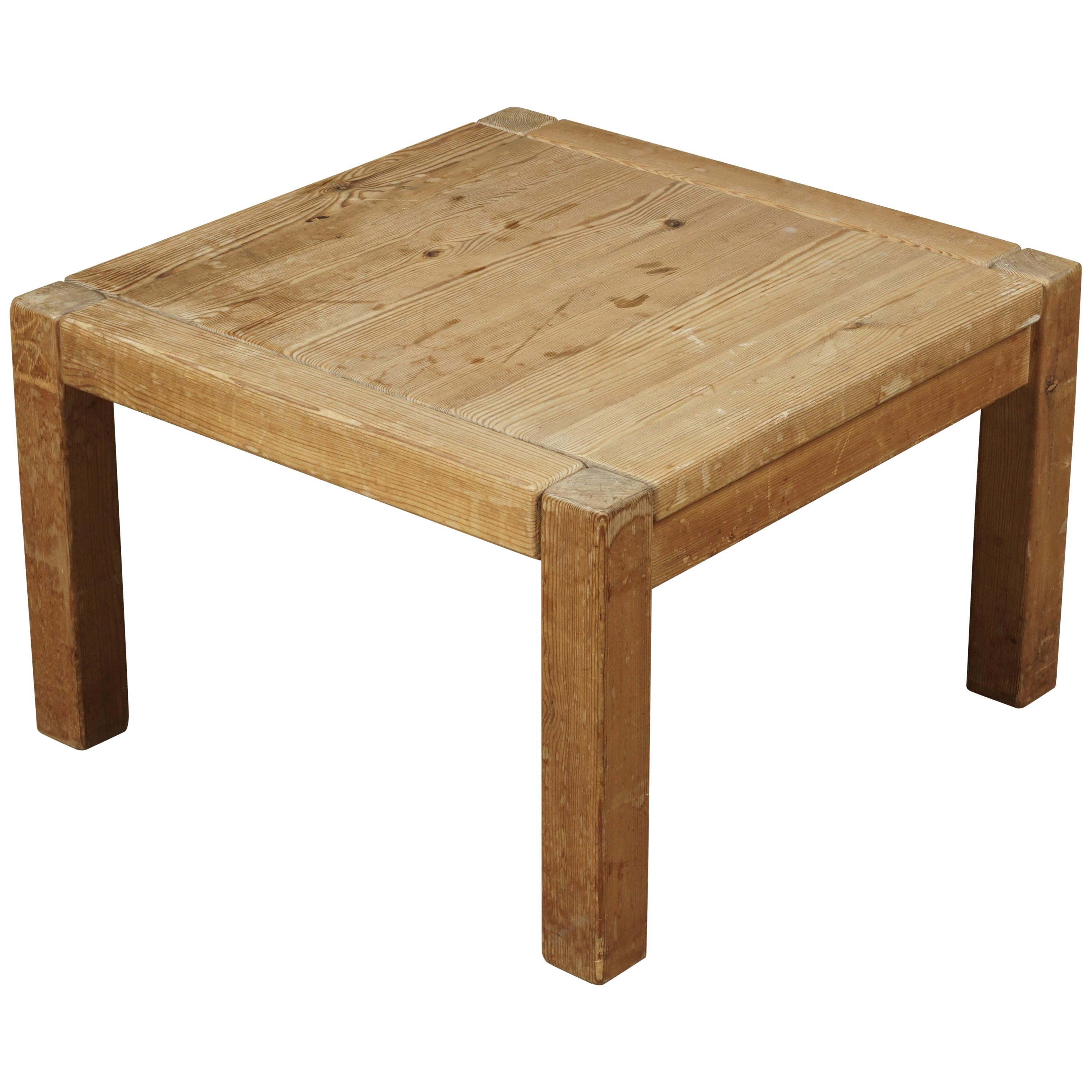 Solid Pine Coffee Table.Small Pine Coffee Table From Netherlands Circa 1960