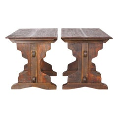 Small Pine Trestle Tables
