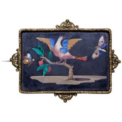 Small Plate with Bird Between Two Butterflies