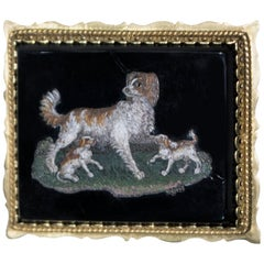 Small Plate with Dogs and Puppies
