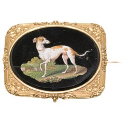 Small Plate with Greyhound