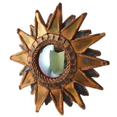 """Small """"Pointed Sun"""" Mirror by Line Vautrin"""