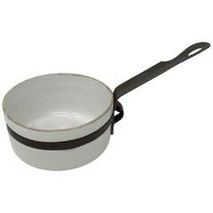 Small Porcelain and Metal Sauce Pan