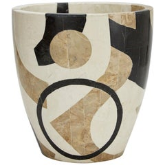 "Small Postmodern Tessellated Stone ""Et Cetera"" Planter, 1990s"