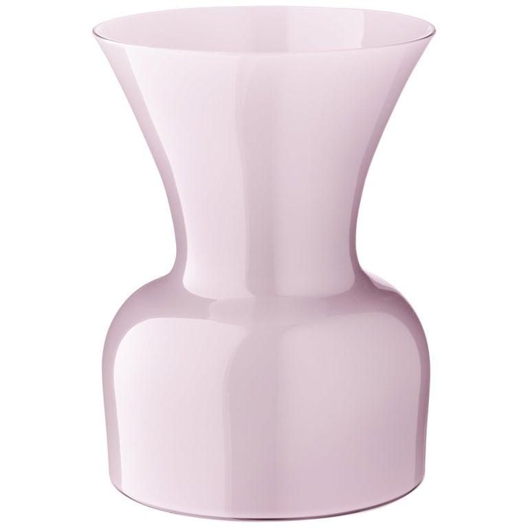 Pink (10056) Small Profili Daisy Murano Glass Vase by Anna Gili