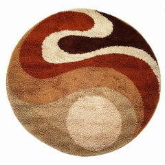 Small Psychedilic 1970s High Pile Rug by Prinstapijt Desso, Netherlands No 1