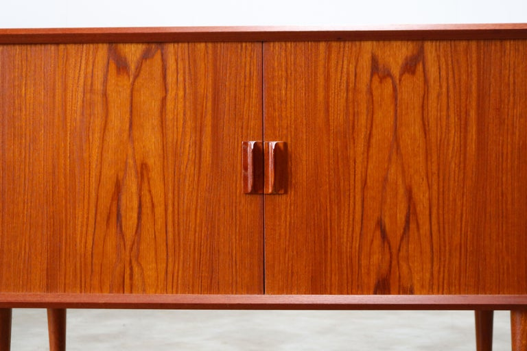 Small Rare Danish Sideboard / Credenza by Svend Aage Madsen for Faarup 1950 Teak For Sale 5