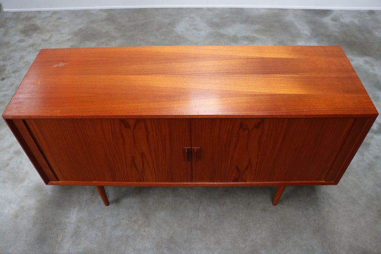 Small Rare Danish Sideboard / Credenza by Svend Aage Madsen for Faarup 1950 Teak For Sale 6