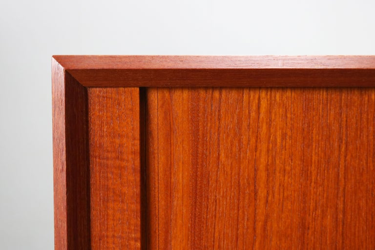 Small Rare Danish Sideboard / Credenza by Svend Aage Madsen for Faarup 1950 Teak For Sale 7