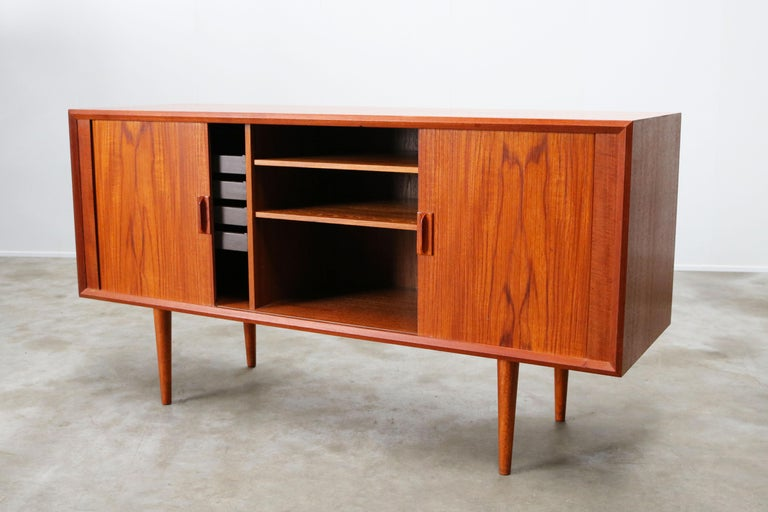 Small Rare Danish Sideboard / Credenza by Svend Aage Madsen for Faarup 1950 Teak For Sale 8