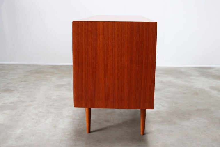 Small Rare Danish Sideboard / Credenza by Svend Aage Madsen for Faarup 1950 Teak For Sale 9