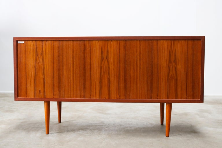 Small Rare Danish Sideboard / Credenza by Svend Aage Madsen for Faarup 1950 Teak For Sale 10
