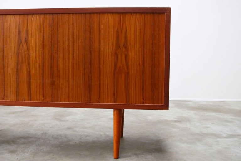 Small Rare Danish Sideboard / Credenza by Svend Aage Madsen for Faarup 1950 Teak For Sale 12