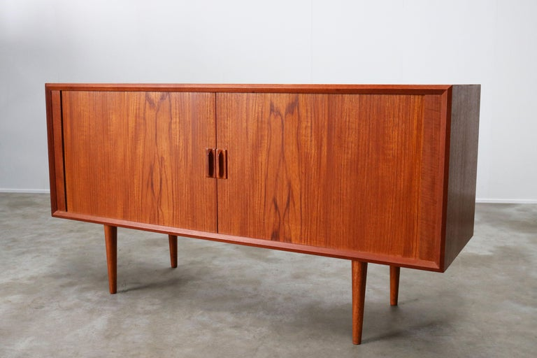 Small Rare Danish Sideboard / Credenza by Svend Aage Madsen for Faarup 1950 Teak For Sale 13